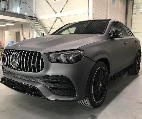 auto wrapping Mercedes Matgrijs