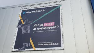 Spandoek aluminium buizenframe Play Padel Club