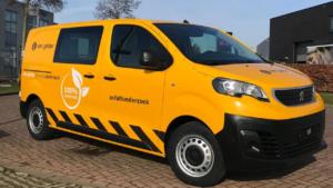 autoreclame Van Gelder asfaltonderzoek bus