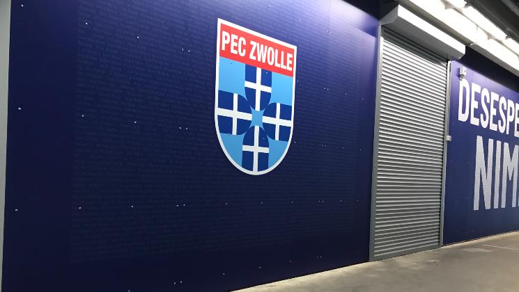 PEC Zwolle prints tribune