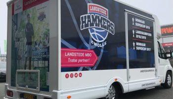 Landstede Hammers autoreclame bakwagen