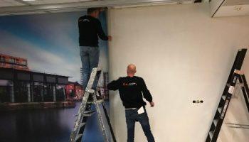 Airtex naadloosbehang Van Dijk Signmakers voor ETZ Tilburg