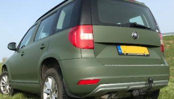 Auto wrappen Military Green mat - Van Dijk Signmakers 3