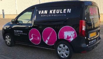 Car wrap en bestickering bedrijfsauto - Van Dijk Signmakers 2