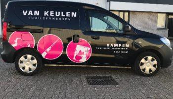 Car wrap en bestickering bedrijfsauto - Van Dijk Signmakers 3