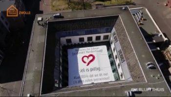 Doek Librije dak Van Dijk Signmakers NLblijftthuis