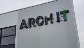 Outdoor gevelreclame Arch-it Van Dijk Signmakers