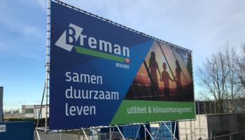 Outdoor reclame breman Zwolle pvc doek