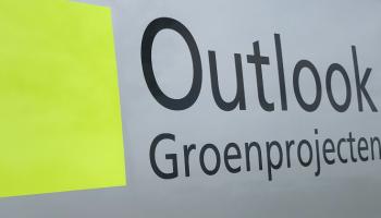 Outlook groen projecten detail logo autoreclame