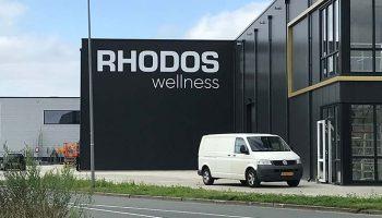 Rhodos gevelreclame plakletters