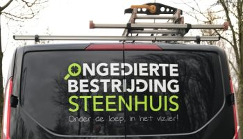 achterkant autoreclame Steenhuis
