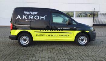 AKROH - bestelbus bestickeren - Van Dijk Signmakers