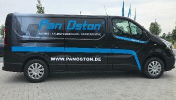 full colour print belettering bestelbus zijkant Pan Oston